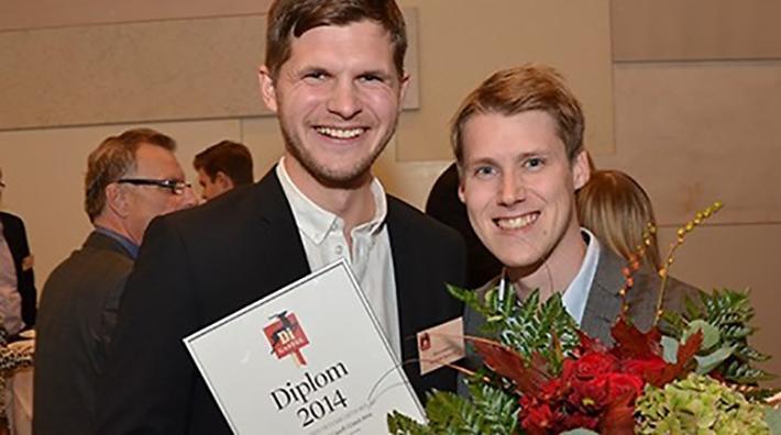 Jens Lundqvist och Samuel Holmström är med Lundqvist Trävaru AB Årets Digitala Gasell.