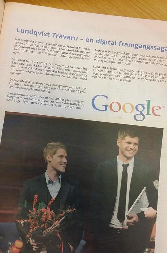 Lundqvist Trävaru AB vill bli ett Google i byggbranschen.