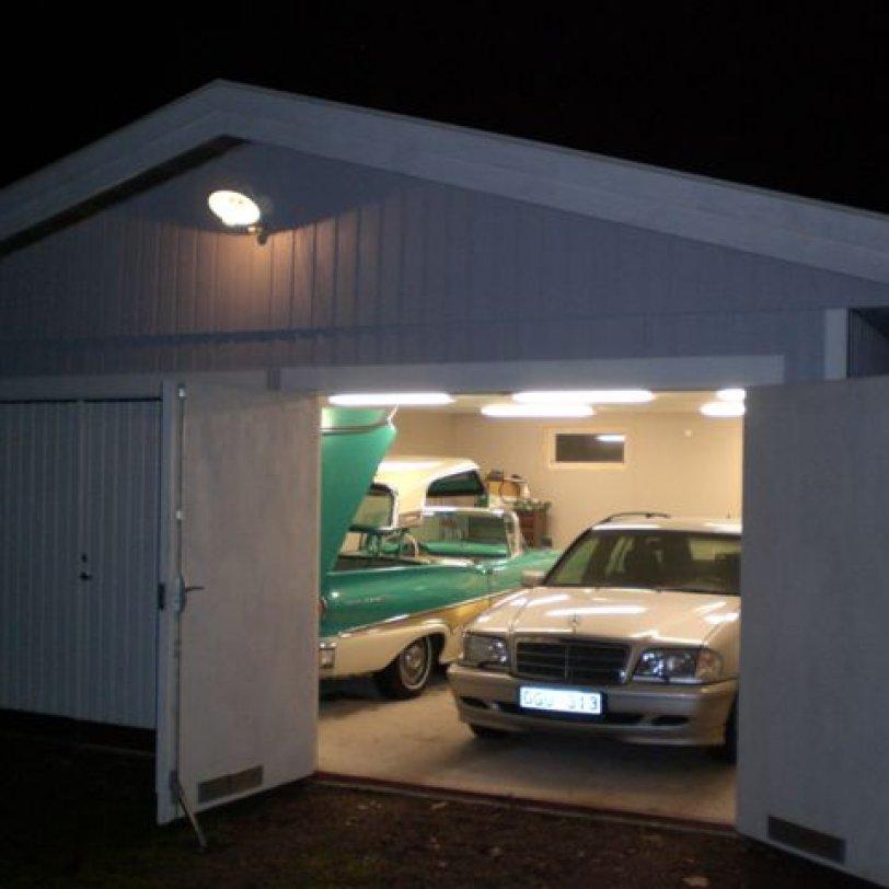 Garasjen for raggarbilen
